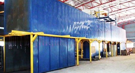 Powder Coating Conveyor System